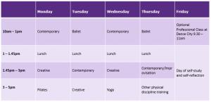 MA Timetable