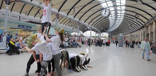 Dino Jaws Flash Mob